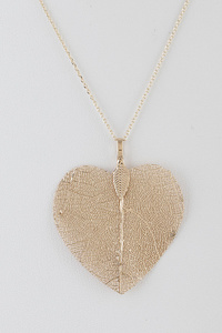 Leaf In Heart Necklace