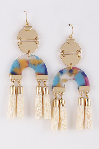 Aztec Tassel Dangle Earrings