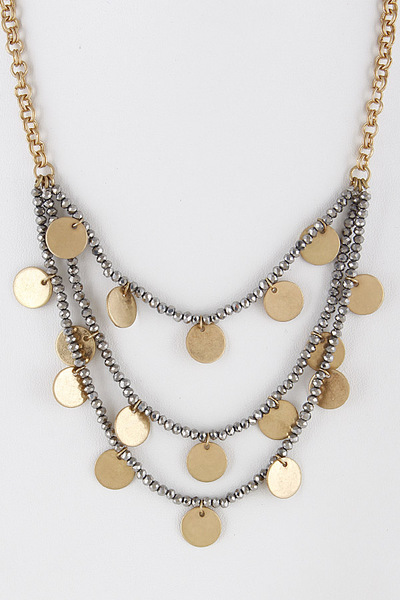 Layered Mixed Coins Necklace