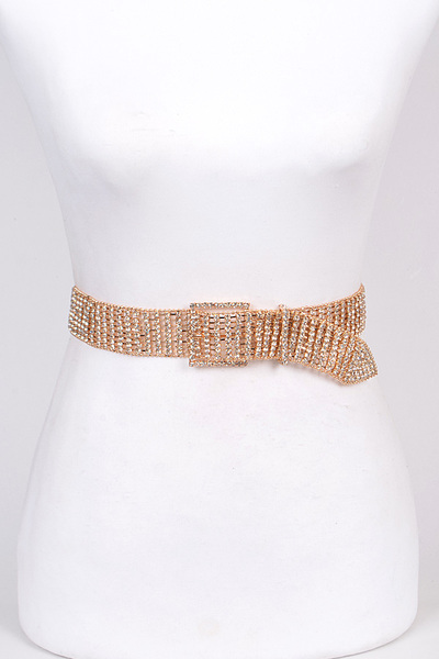 Adjustable Rhinestone Shiny Belt