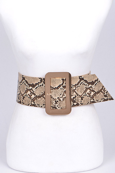 Thick Animal Print Wrap Belt