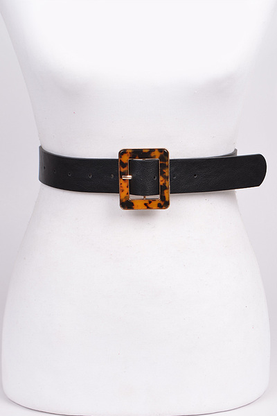 Leopard Printed Buckle Belt