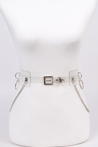 Clear PVC Chain Belt