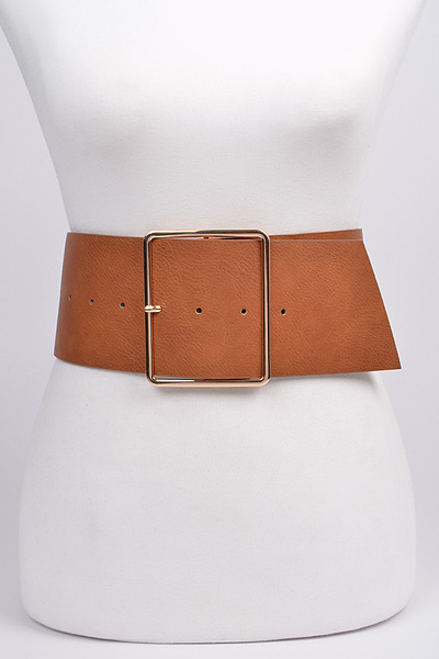 Wide Bulk Buckle Belt