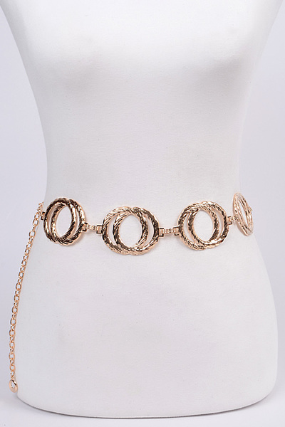 Melted Double Rings Chain Belt