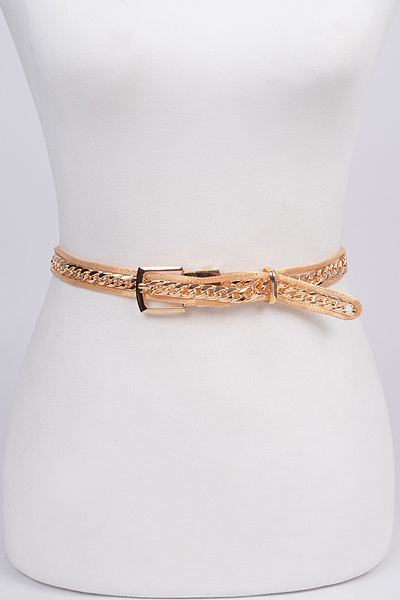 Chain In Frame Buckle Belt