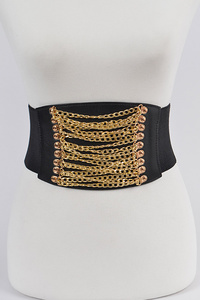 Multi Row Overlap Chain Elastic Belt