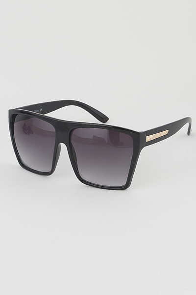 Tinted Big Eye Rectangle Sunglasses