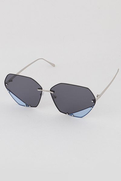 Bottom Glass Fragments Different Color Sunglasses