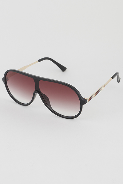 Gold Rim Aviator Sunglasses