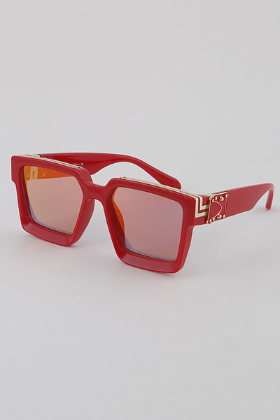 Mirrored Lens Square Sunglasses