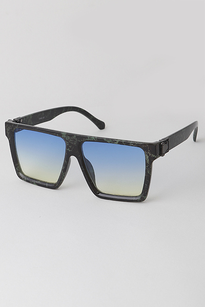 Angular Frame Shield Sunglasses