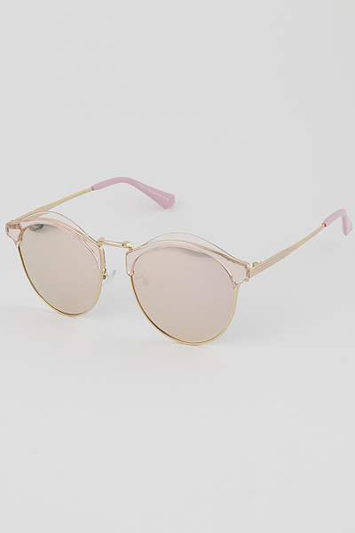 Half Frame Aviator Sunglasses