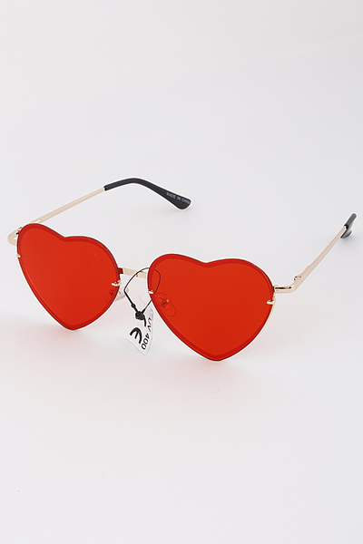 Heart Tinted Sunglasses