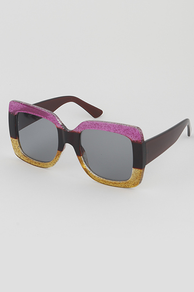 Tinted Rectangle Fashion Sunglasses