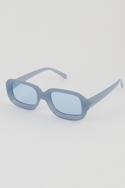 Tinted Transparent Rim Sunglasses