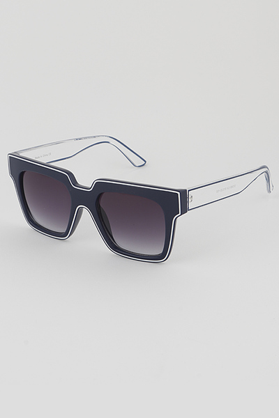 Outline Frame Square Sunglasses
