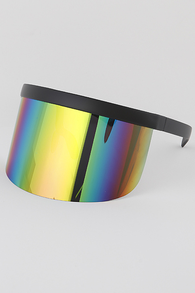 Mirrored Face Shield Sunglasses
