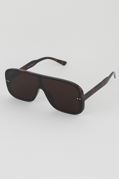 Tinted With Side Stones Goggle Style Sunglasses