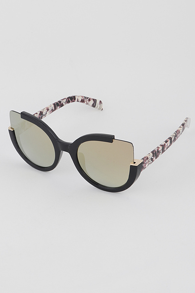 Double C Frame Cat Eye Sunglasses