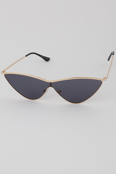 Continuous Cat Eye Frame Sunglasses