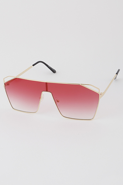 Open Cut Shield Sunglasses