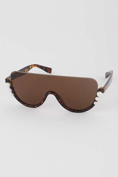 Half Frame Shield Sunglasses