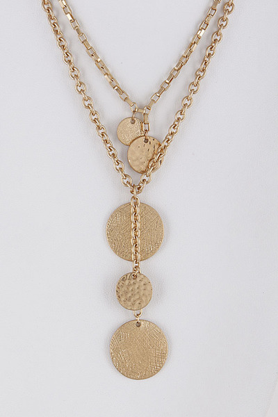 Gypsy Mixed Necklace With Circle Details