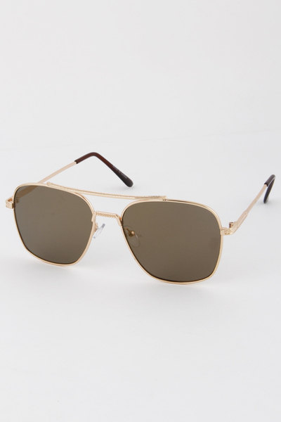 Multi Color Rim Aviator Sunglasses