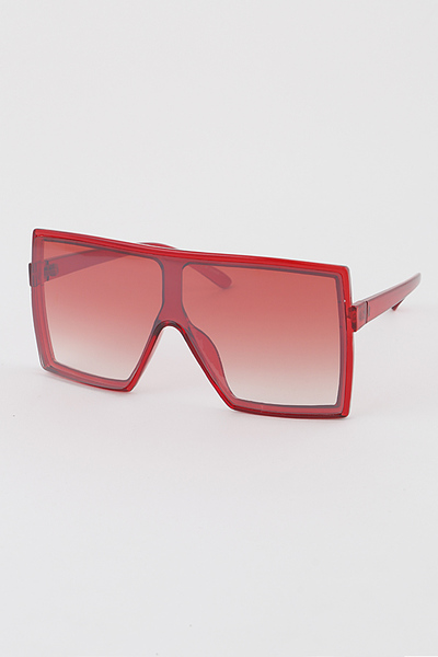 Oversized Translucent Shield Sunglasses