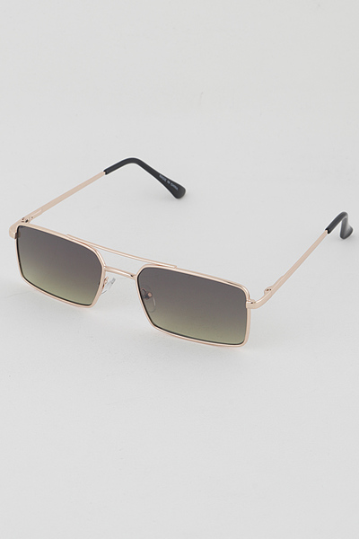 Tinted Rectangle Retro Sunglasses