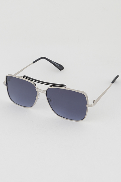 Gold Rim Aviator Rectangle Fashion Sunglasses