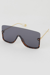 Half Framed Goggle Style Sunglasses
