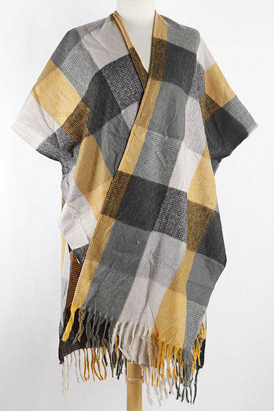 Color Block Cape Scarf