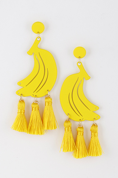 Banana Tassel Earrings
