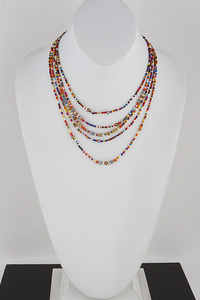 Multi Bead Statement Necklace