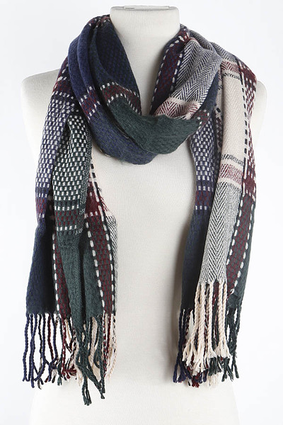 Patterned Flannel Scarf
