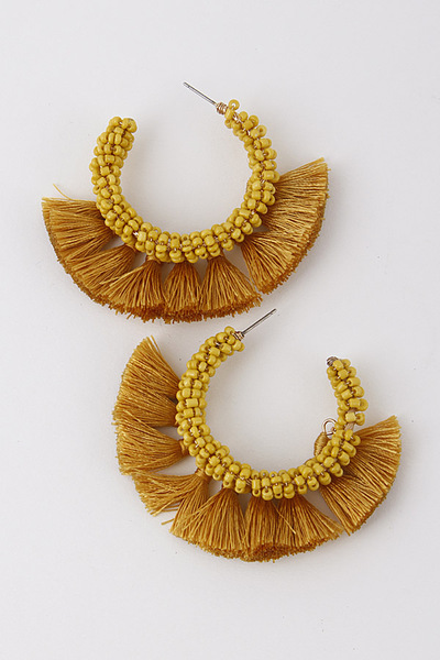 Fringe Baby Tassel Earrings