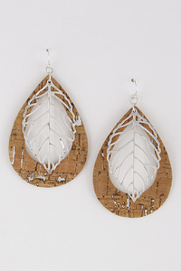 Leaf Stencil Dangle Earring
