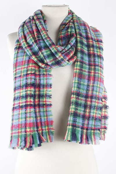 Multi Color Check Pattern Scarf