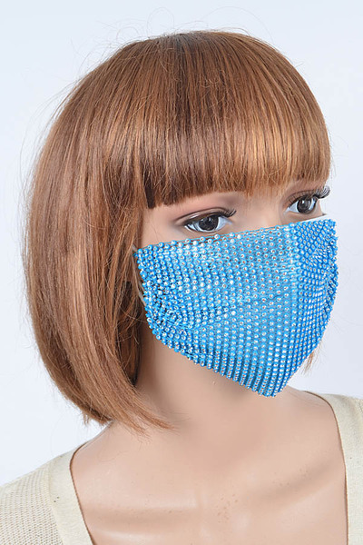 Rhinestone Mesh Fashionable Mask