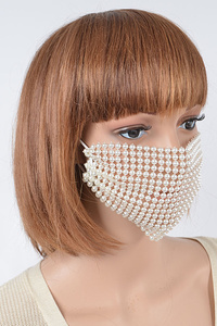 Imitation Pearl Fashion Mask