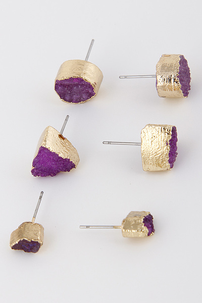 Bright Stones Stud Earring Set
