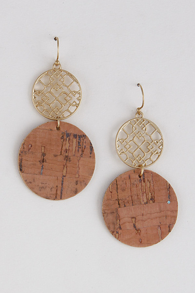 Lace Molded Circle Drop Earrings
