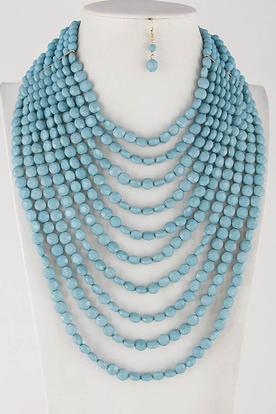 Pearl Mixed Beaded Layered Necklace