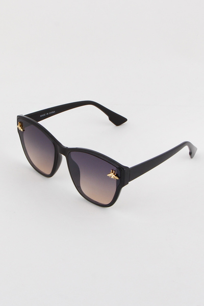 Insect Charm Embellished Sunglasses