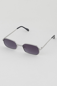 Rim Rectangle Retro Fashion Sunglasses
