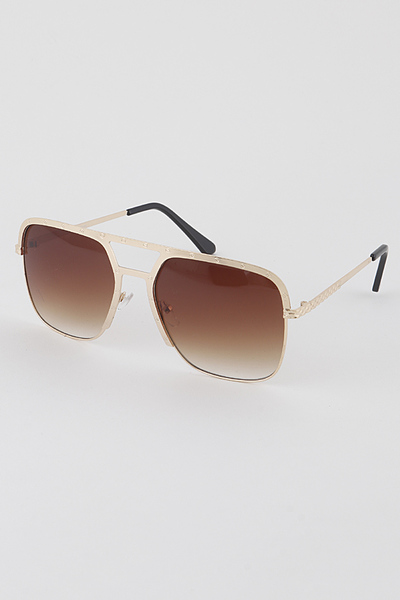 Stamped Aviator Sunglasses