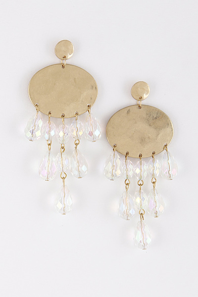 Pearl Rain Fringed Earrings