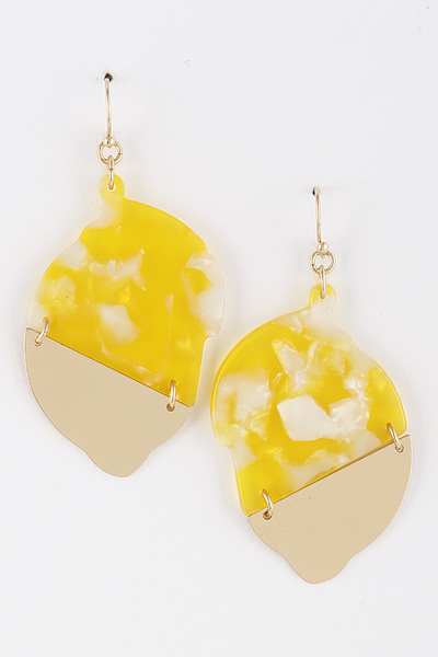 Lemon Mold Earrings